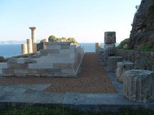 Temple of Athena at Karthea, Tzia, Cyclades, Greece