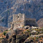 The castle of St. John's order on Kastelorizo, Dodecanese, Greece