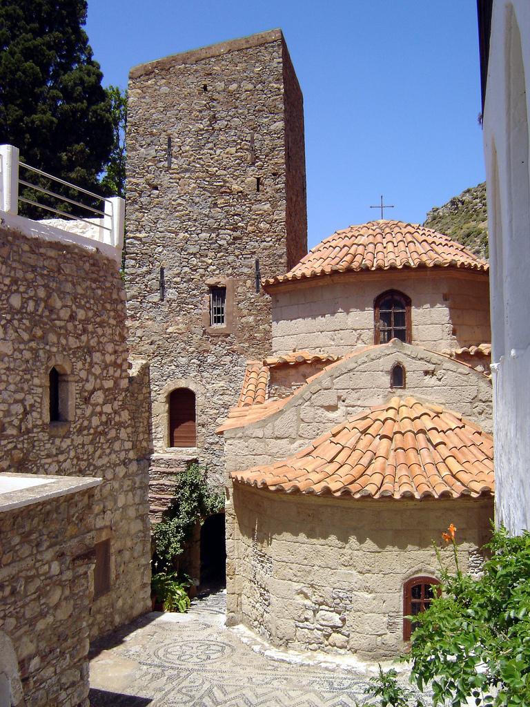 The monastery of Agion Pandeleimon, Tilos, Greece - Photo by S. Lambadaridis