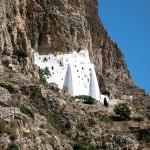 The monastery of Panagia Hozoviotissa, Amorgos, Cyclades, Greece
