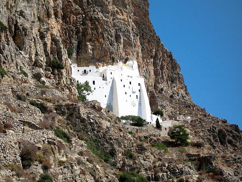 The monastery of Panagia Hozoviotissa, Amorgos, Cyclades, Greece