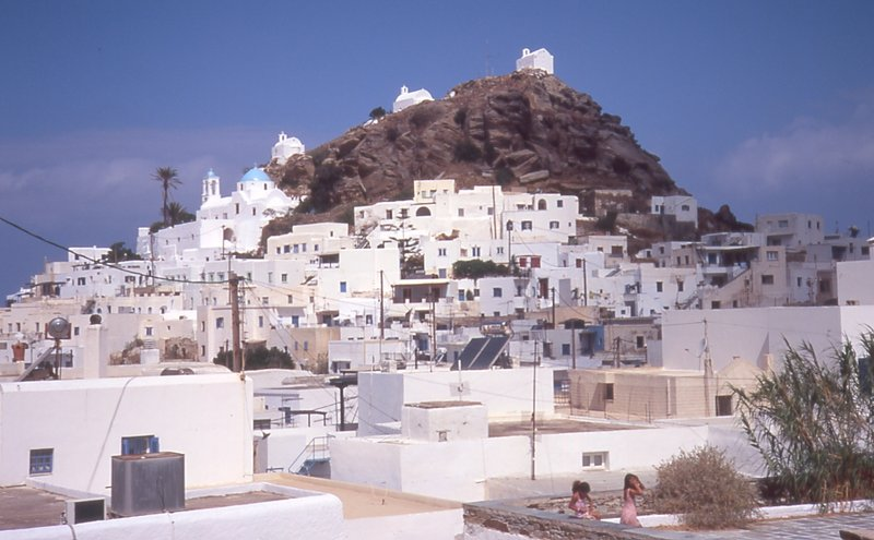 View of Chora, Ios, Cyclades, Greece