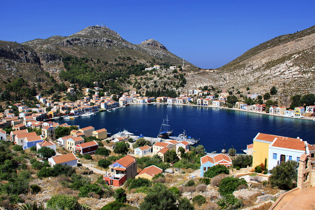 View of Kastelorizo port - Photo by S. Lambadaridis