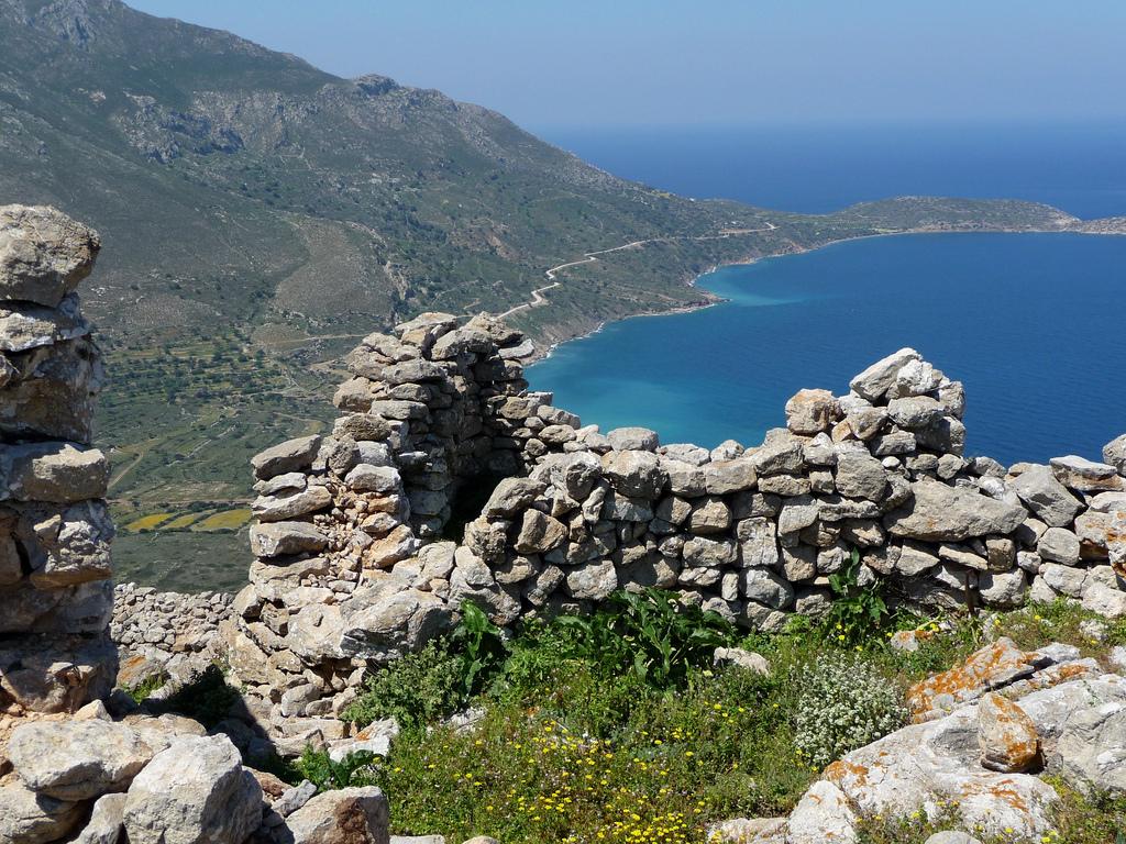 View over Agios Andonis and Plaka, Tilos - Photo by S. Lambadaridis