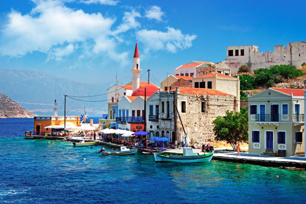 The port of Kastellorizo (Megisti), Dodecanese Greece