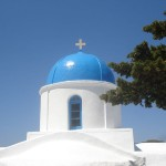 Church on Amorgos island, Cyclades, Greece