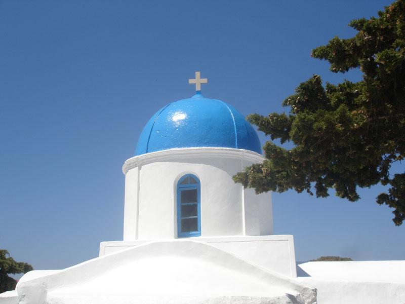 Church on Amorgos island, Cyclades, Greece