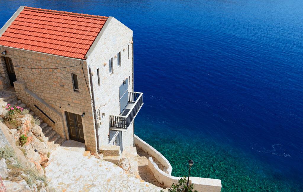 the village of Kastellorizo (Megisti), Dodecanese Greece