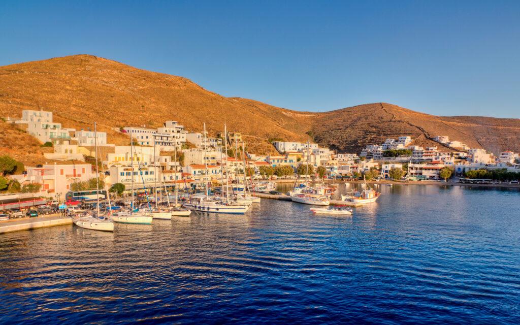 Merichas port, Kythnos island, Cyclades, Greece