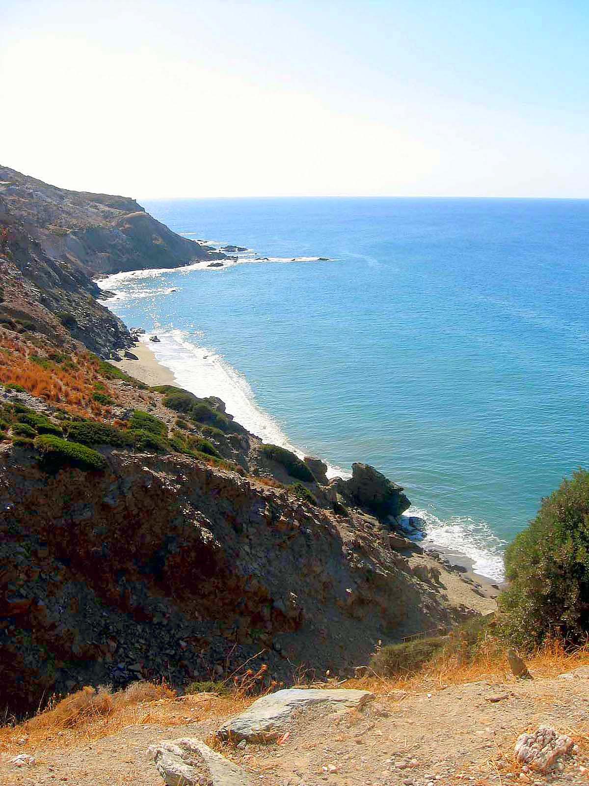 Coast of Milos island, Cyclades, Greece