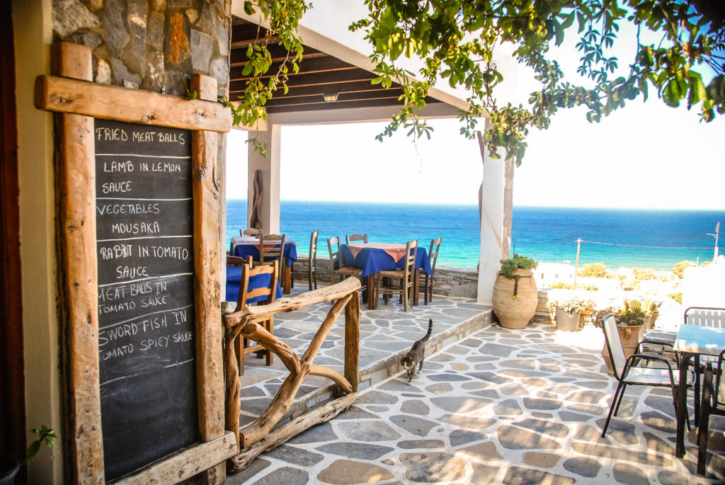Travel to Ios, Greece - Tavern by the beach in Ios