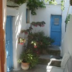 Walking on Amorgos island, Cyclades, Greece