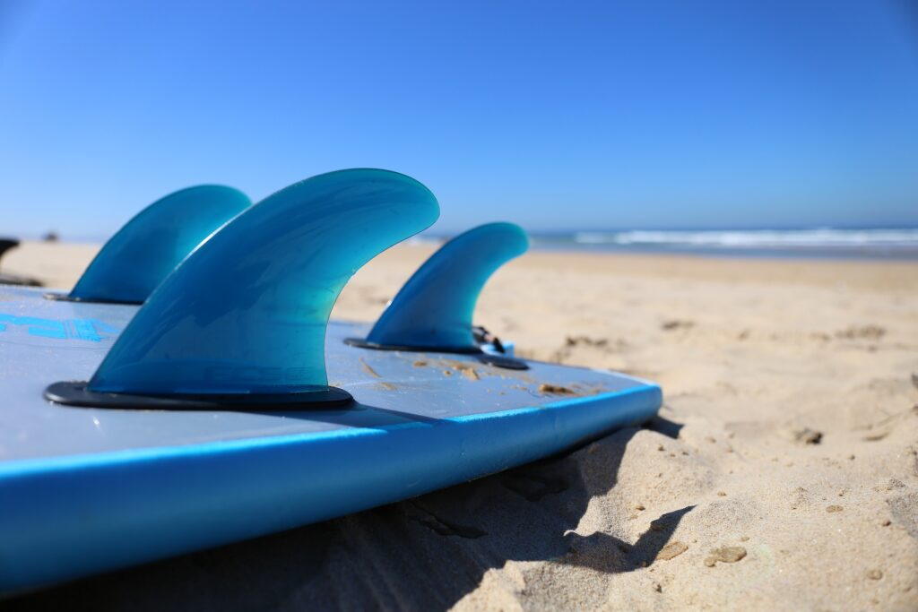 watersport - surfboards on the beach