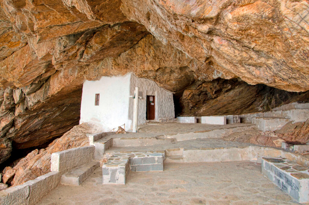 """Agios Stefanos """"Cave church"""", one of the most impressive chapels in the world, Syros, Greece"""