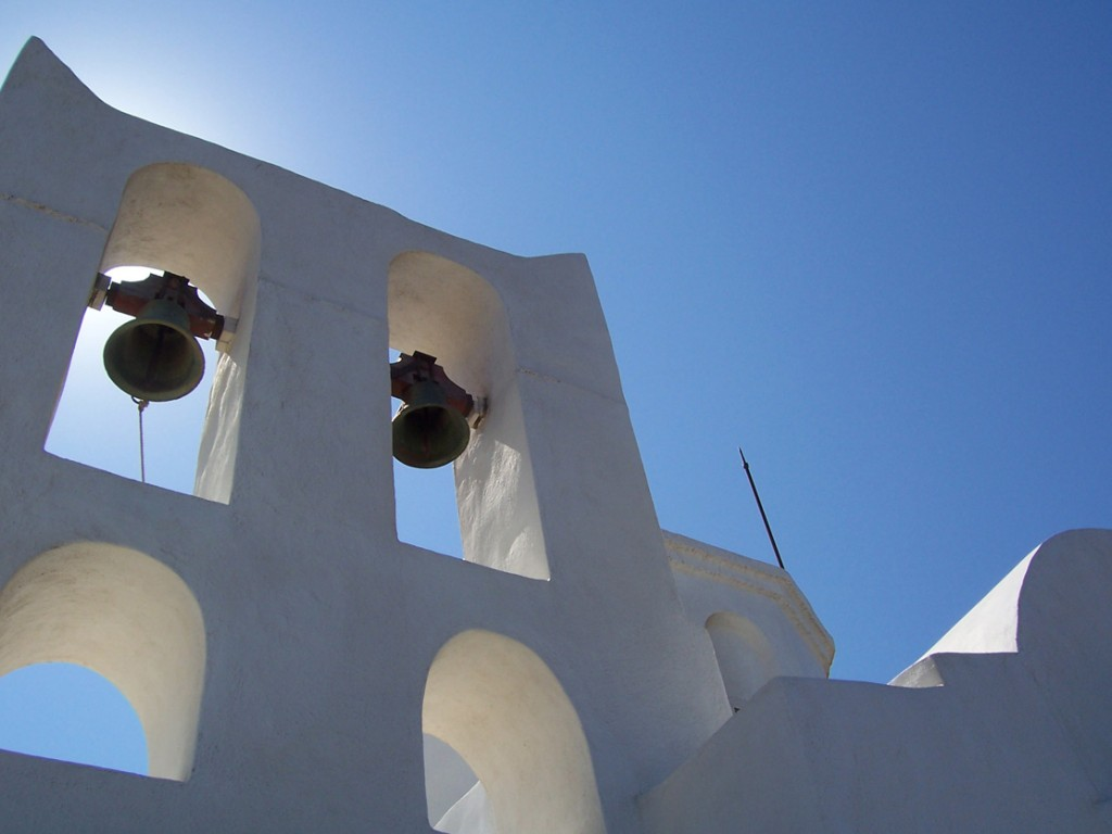 Church built on the ancient acropolis of Sifnos, Greece