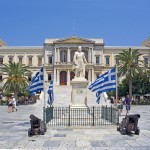 Ermoupolis City Hall on Syros, Greece