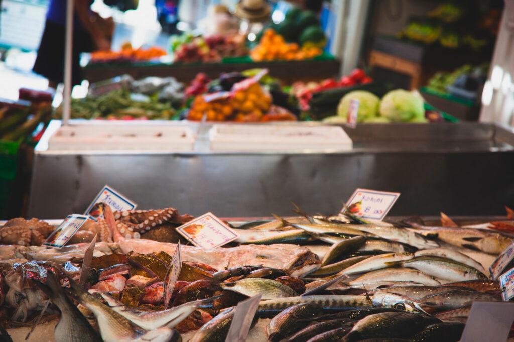 Fish market in Greece, Syros island