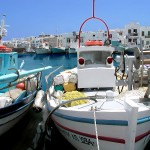 Fishing boats in Naoussa. Paros, Greece