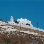 The Church of Panaghia on the hilltop, Folegandros, Greece