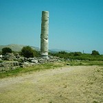 Last remaining pillar at Heraion, Samos, Greece