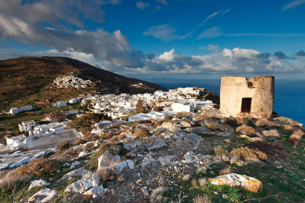 Chora village early in the morning, Sikinos Greece