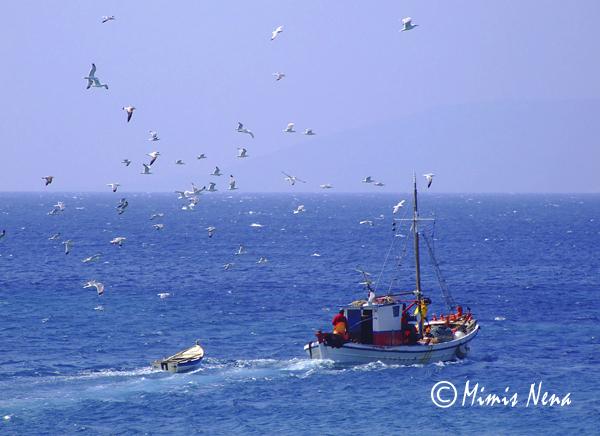 Fishing boat from Koufonisia, Greece