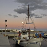 Fishing boat at the port of Koufonisia, Cyclades, Greece