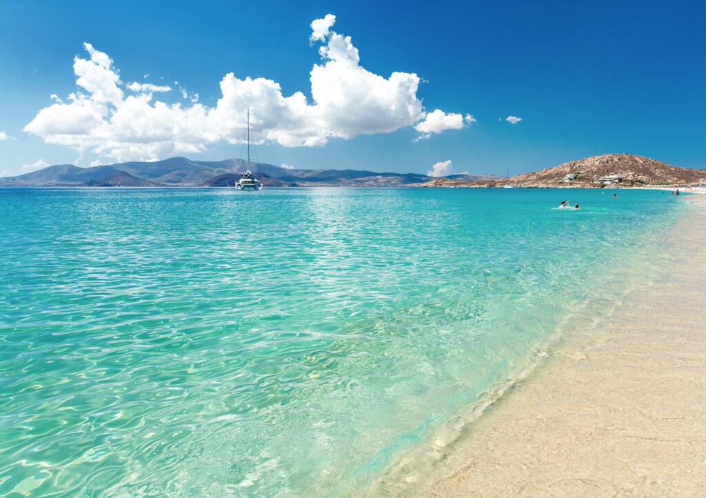 Paradise beach on Naxos island, Cyclades in Greece
