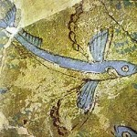 Phylakopi, flying fish (Bronze Age wall painting)