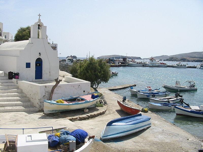Port of Karavostasi, Folegandros, Greece