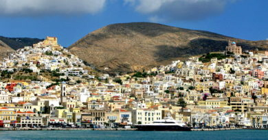 Ermoupoli and Ano Syros, Syros island - Photo by S. Lambadaridis
