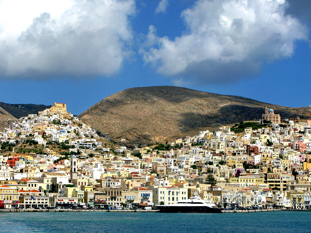 Ermoupoli and Ano Syros, Syros island - Photo by S. Lambadaridis