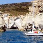 Sea excursions around Milos, Cyclades, Greece