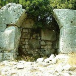 Antique Fortification Walls on Samos, Greece