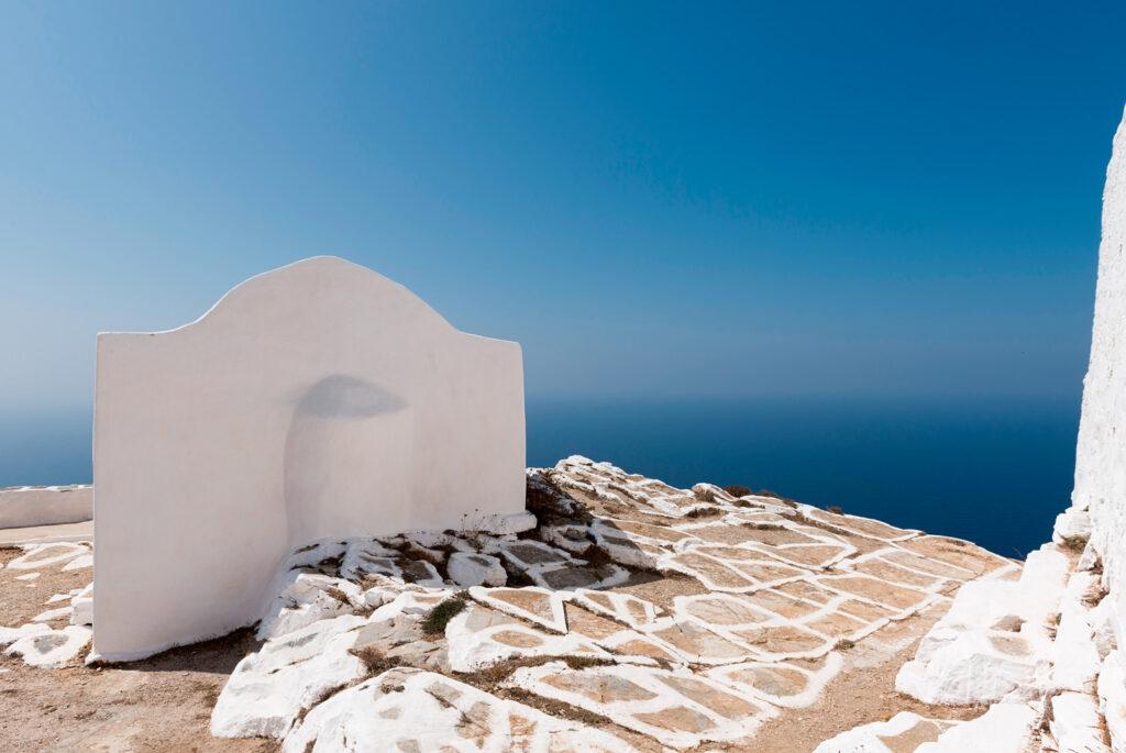 Small church outside the monastery of Zoodochos Pigi, Sikinos island, Greece