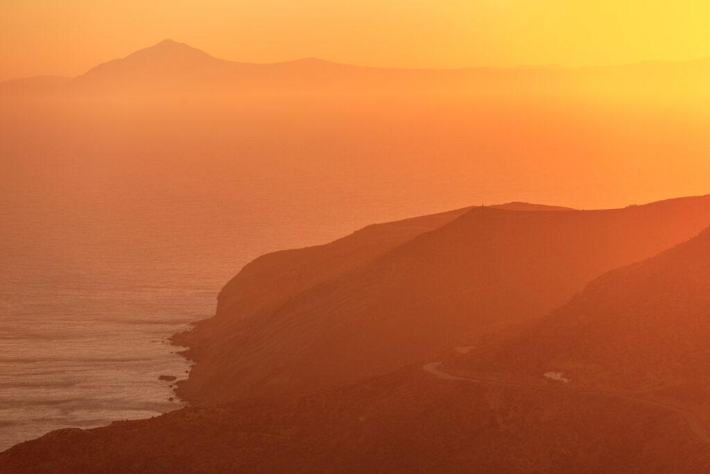 Sunset in Sikinos island, Greece