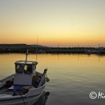 Sunset at the port of Koufonisia, Cyclades, Greece