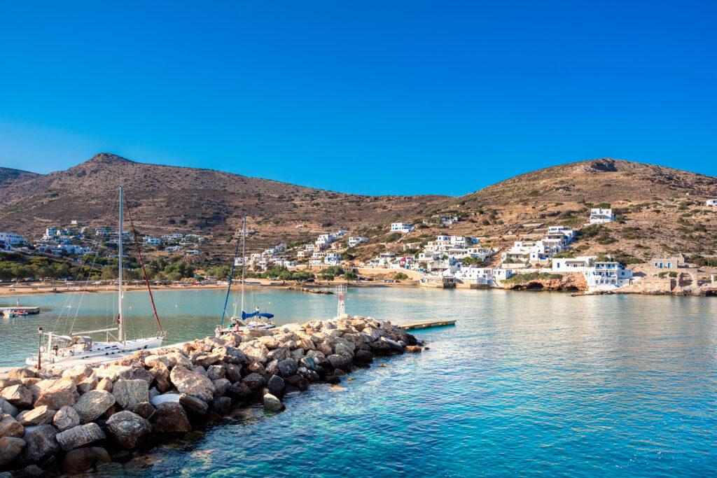 Alopronoia, the beautiful small harbour of Sikinos island, Greece.