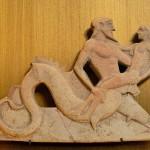 Triton carrying Theseus, Melian Relief, Louvre