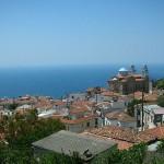 View of Marathokampos village, Samos, Greece