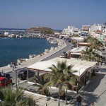 View of Naxos port and seafront, Greece