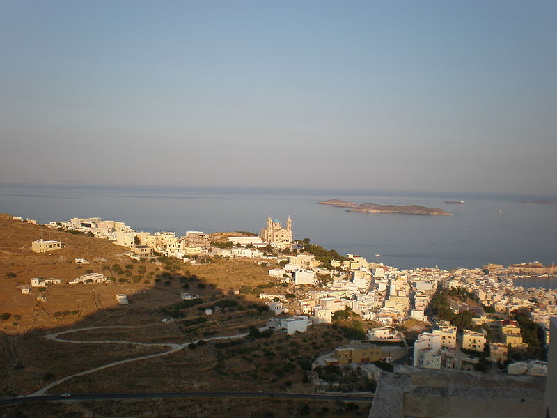 View from Ano Syra, Syros, Greece