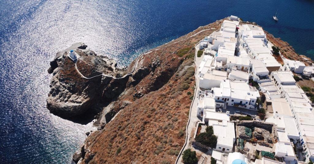 Sifnos Island, Cyclades, Greece - Chapel of Eptamartyres in village of Kastra