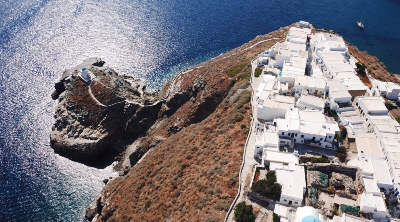 Sifnos Island, Cyclades, Greece - Chapel of Eptamartyres in village of Kastra