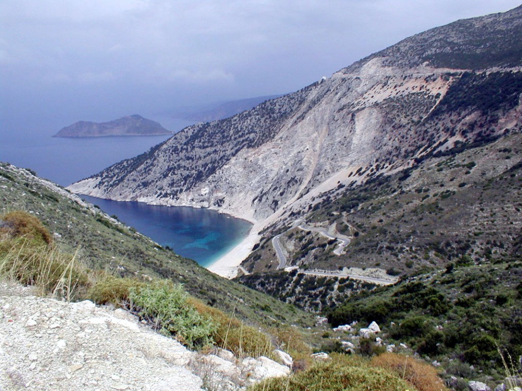 A view down to Myrtos beach, Kefalonia