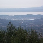 Argostoli and Lixouri from the mountains of Kefalonia