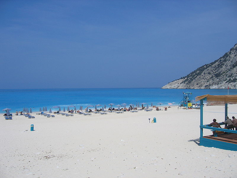 View from a taverna at Myrtos beach, Kefalonia