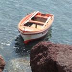 Boat in Santorini