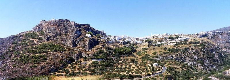 Panoramic view of Chora, Kythira