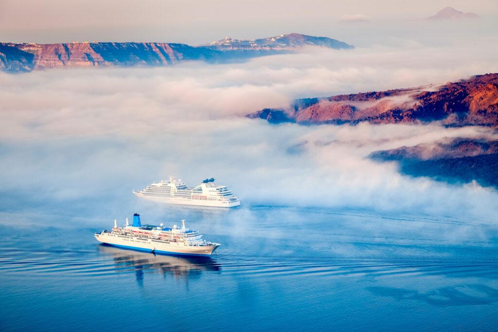 Morning for at the caldera of Santorini, Cyclades Greece
